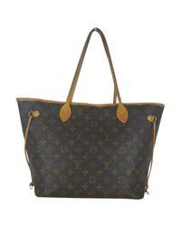 Louis Vuitton - Pre-owned Neverfull Brown Cloth Handbag - Lyst