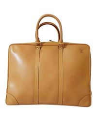 Louis Vuitton - Natural Pre-owned Leather Satchel - Lyst