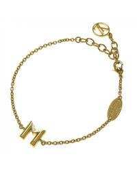 Louis Vuitton - Pre-owned Yellow Metal Bracelet - Lyst