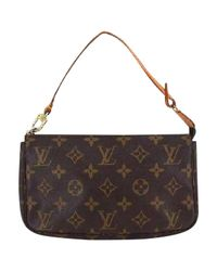 Louis Vuitton | Brown Pre-owned Pochette Accessoire Cloth Handbag | Lyst