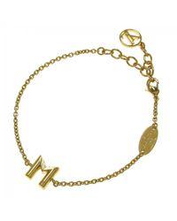 Louis Vuitton   Pre-owned Yellow Metal Bracelet   Lyst