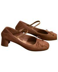 Miu Miu - Brown Leather Heels - Lyst