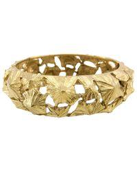 Lanvin - Metallic Vintage Gold Metal Bracelets - Lyst