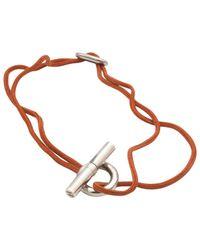 Hermès | Orange Pre-owned Skipper Silver Bracelet | Lyst