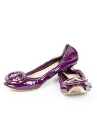 Dior - Pre-owned Purple Patent Leather Ballet Flats - Lyst
