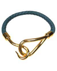 Hermès | Blue Pre-owned Jumbo Leather Bracelet | Lyst