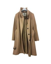 Burberry - Natural Cashmere Coat - Lyst
