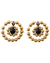 Marni - Metallic Gold Plastic Earrings - Lyst