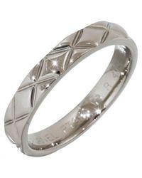 Chanel - White Platinum Ring - Lyst