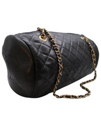 Chanel | Black Pre-owned Leather Crossbody Bag | Lyst