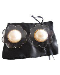 Chanel - Metallic Gold Metal Earrings - Lyst
