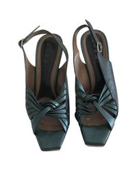 Marni - Green Pre-owned Leather Heels - Lyst