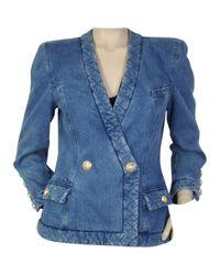 Balmain - Pre-owned Blue Denim - Jeans Jacket - Lyst