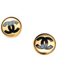 Chanel - Metallic Earrings - Lyst