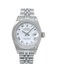 Rolex - Pre-owned Datejust White Gold Watch - Lyst