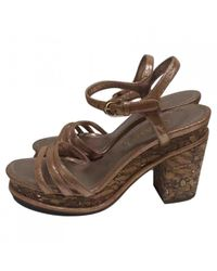 Chanel - Brown Pre-owned Leather Sandals - Lyst
