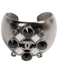 Chanel - Gray Grey Metal Bracelet - Lyst
