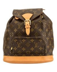 Louis Vuitton - Brown Montsouris Cloth Backpack - Lyst