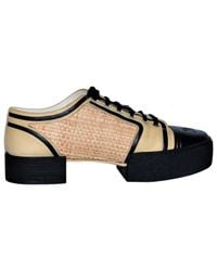 Chanel - Natural Leather Lace Ups - Lyst