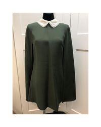 Valentino Green Wool Dress