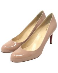 Christian Louboutin - Pink Pre-owned Simple Pump Patent Leather Heels - Lyst