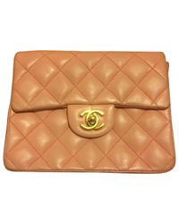 bd121185705e Lyst - Chanel Pre-owned Timeless Leather Crossbody Bag in Pink