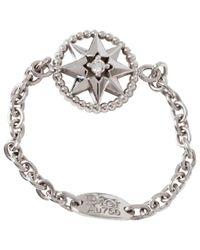 Dior - Metallic White Gold Ring - Lyst