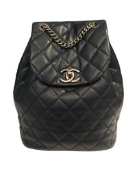 Chanel - Blue Leather Backpack - Lyst