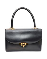 Hermès - Blue Pre-owned Leather Handbag - Lyst