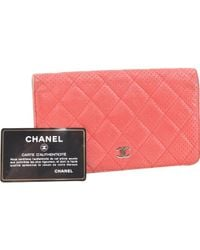 Chanel Red Leather Wallet