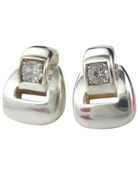 Hermès - Metallic Pre-owned Silver Earrings - Lyst