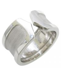 Cartier - Yellow Pre-owned C White Gold Ring - Lyst