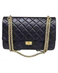 Chanel - Blue 2.55 Leather Handbag - Lyst