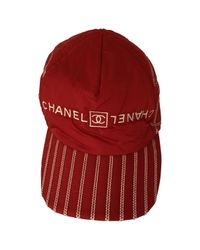 Chanel Red Pre-owned Cap