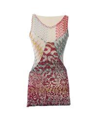 Missoni - Multicolor Wool Mini Dress - Lyst