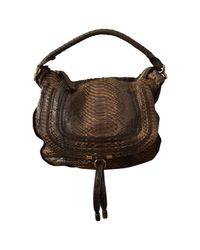 31d607740b8 Chloé Marcie Python Handbag in Brown - Lyst