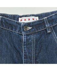 Marni - Blue Cotton Jeans - Lyst