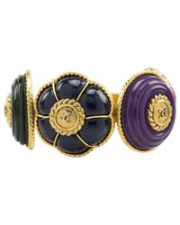 Chanel - Blue Pre-owned Multicolour Metal Bracelet - Lyst