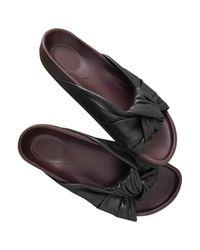 Céline - Black Leather Sandal - Lyst