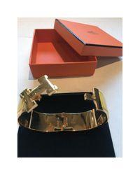 Hermès - Yellow Clic H Bracelet - Lyst