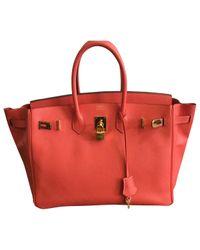 Hermès - Pink Birkin 35 Leather Handbag - Lyst