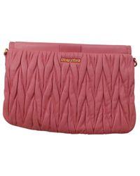 Miu Miu - Pink Shoulder Bag - Lyst