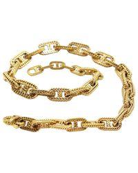 Hermès - Metallic Collier Chaîne d'Ancre en or jaune - Lyst