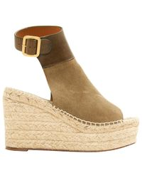 Chloé - Natural Leather Mid Heel - Lyst