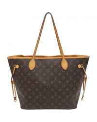 Louis Vuitton - Brown Neverfull Cloth Handbag - Lyst