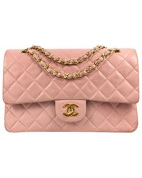 Chanel - Pink Pre-owned Quilted Leather Shoulder Bag  - Lyst