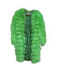 Dior - Green Pre-owned Feather Coat - Lyst