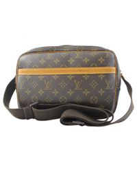 Louis Vuitton - Brown Pre-owned Cloth Bag - Lyst