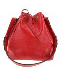 Lyst - Sac à main Noé en cuir Louis Vuitton en coloris Rouge 36356047cd3