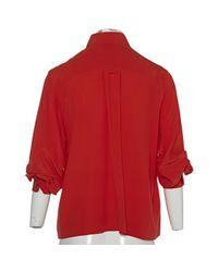 Chanel - Vintage Red Silk Top - Lyst